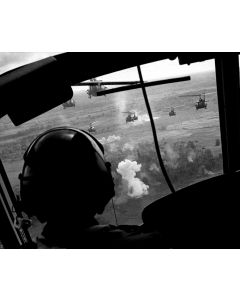 South Vietnam, May, 1965: Helicopters prepare to land in Vietnam