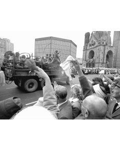Berlin, Germany, August, 1961: West Berliners cheer