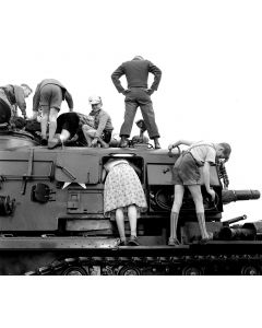 Germany: Curious visitors on Armed Forces Day, 1957