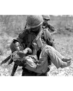 Vietnam, 1967: Boy wounded by errant M-16 round