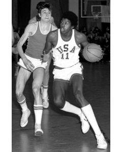 "Mannheim, Germany, April1977: Earvin ""Magic"" Johnson"