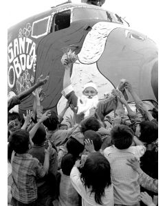 Santa arrives at a Special Forces base in Vietnam, 1968