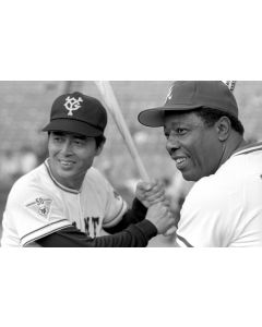 Sadaharu Oh and Hank Aaron