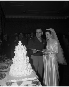 Wedding at Rhine-Main Air Base in Germany, 1949