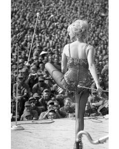 Baton twirling Diane Shelton, 1966