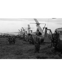 Helicopter assault just south of the Ho Bo Woods, 1967