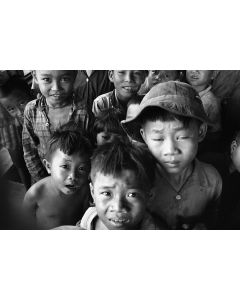 Montagnard refugee kids near Song Ba, 1968
